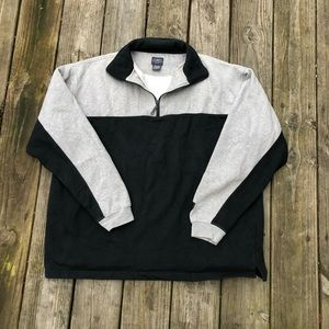 Vintage color block zip up sweatshirt